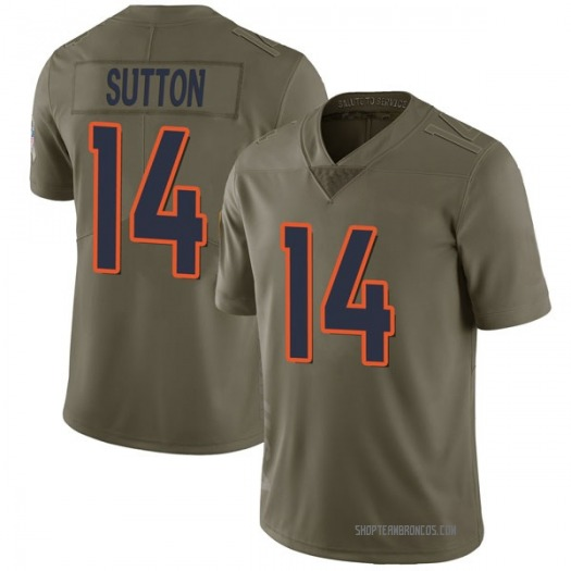 Nike Courtland Sutton Denver Broncos Limited Green 2017 Salute to Service Jersey - Youth