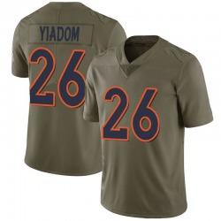 Nike Isaac Yiadom Denver Broncos Limited Green 2017 Salute to Service Jersey - Men's