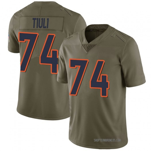Nike Jay-Tee Tiuli Denver Broncos Limited Green 2017 Salute to Service Jersey - Youth
