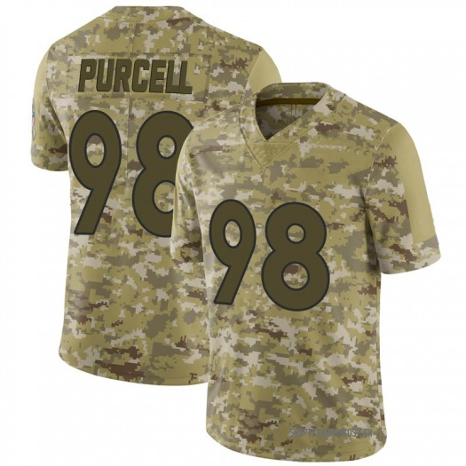 Nike Mike Purcell Denver Broncos Limited Camo 2018 Salute to Service Jersey - Men's