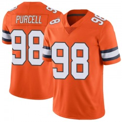 Nike Mike Purcell Denver Broncos Limited Orange Color Rush Vapor Untouchable Jersey - Men's