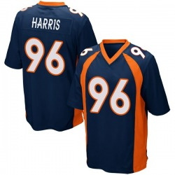 Nike Shelby Harris Denver Broncos Game Navy Blue Alternate Jersey - Youth
