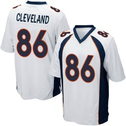 Nike Tyrie Cleveland Denver Broncos Game White Jersey - Youth