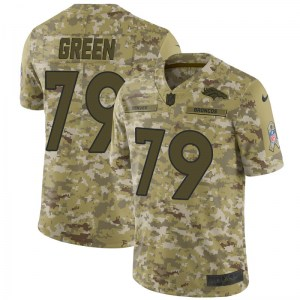 Nike Chaz Green Denver Broncos Limited Green Camo 2018 Salute to Service Jersey - Men's