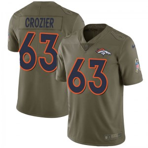 Nike Ryan Crozier Denver Broncos Limited Green 2017 Salute to Service Jersey - Men's