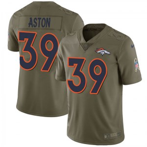 Nike George Aston Denver Broncos Limited Green 2017 Salute to Service Jersey - Youth