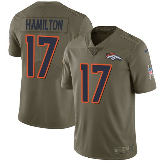 Nike DaeSean Hamilton Denver Broncos Limited Green 2017 Salute to Service Jersey - Men's