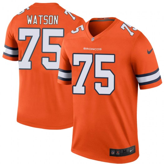 Nike Menelik Watson Denver Broncos Legend Orange Color Rush Jersey - Youth